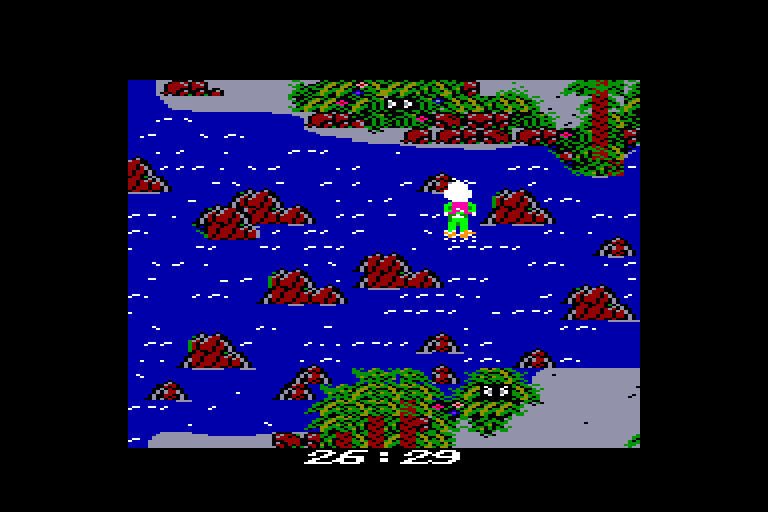 screenshot of the Amstrad CPC game Howard the duck by GameBase CPC
