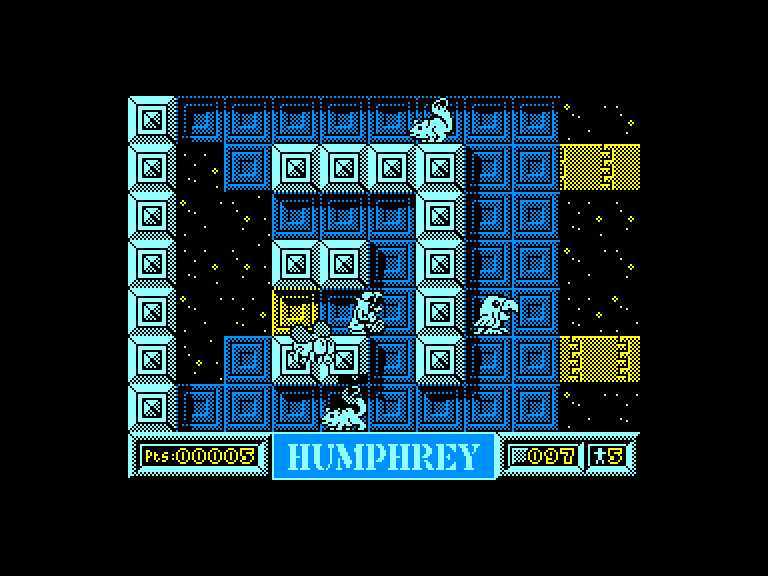 screenshot of the Amstrad CPC game Humphrey by GameBase CPC