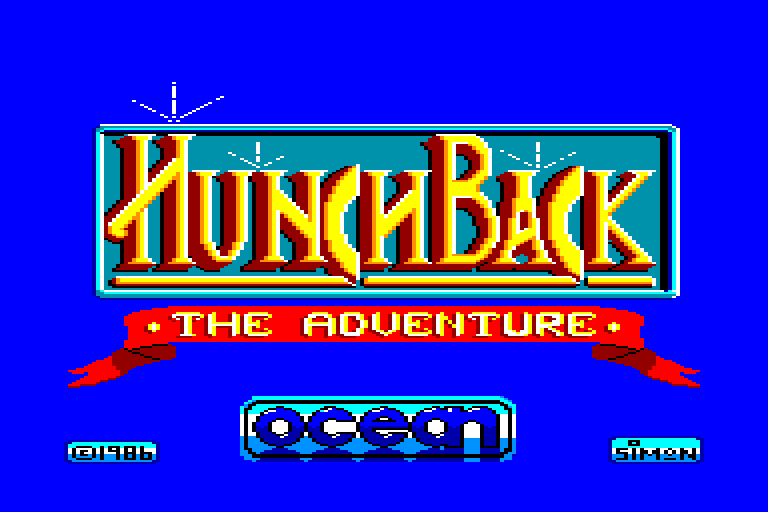 screenshot of the Amstrad CPC game Hunchback - The Adventure by GameBase CPC