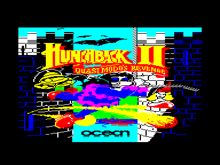 screenshot of the Amstrad CPC game Hunchback II - Quasimodo's Revenge by GameBase CPC