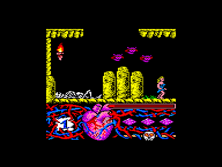 screenshot of the Amstrad CPC game Hundra by GameBase CPC