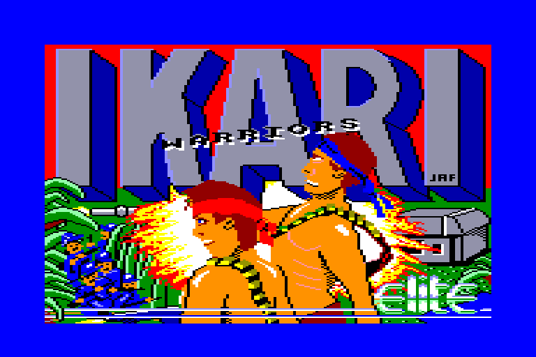 screenshot of the Amstrad CPC game Ikari Warriors by GameBase CPC