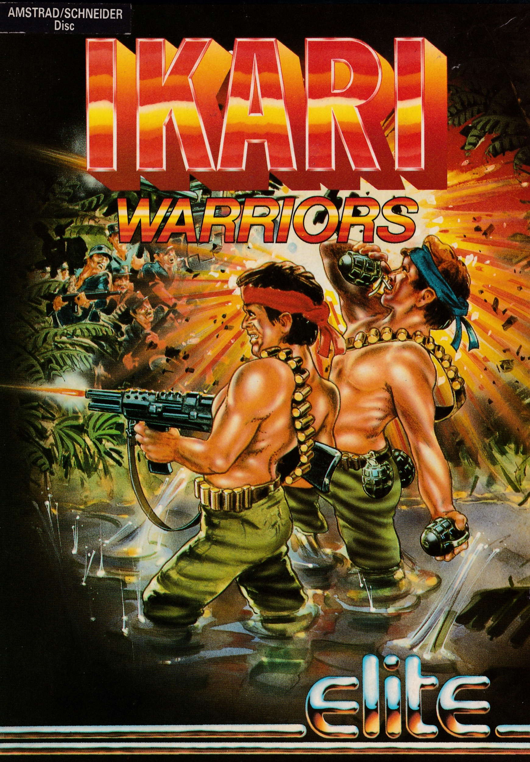 cover of the Amstrad CPC game Ikari Warriors  by GameBase CPC
