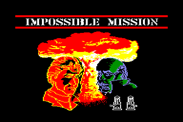 screenshot of the Amstrad CPC game Impossible Mission by GameBase CPC