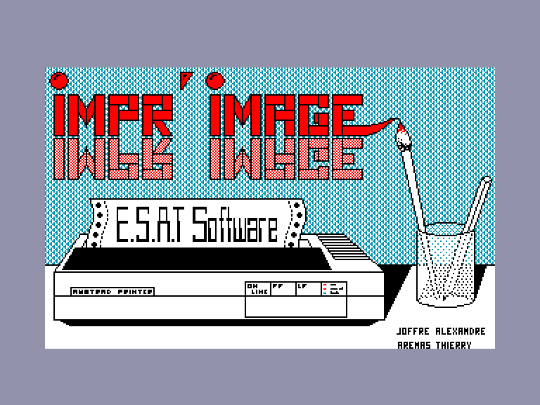 screenshot of the Amstrad CPC game Impr'Image by GameBase CPC