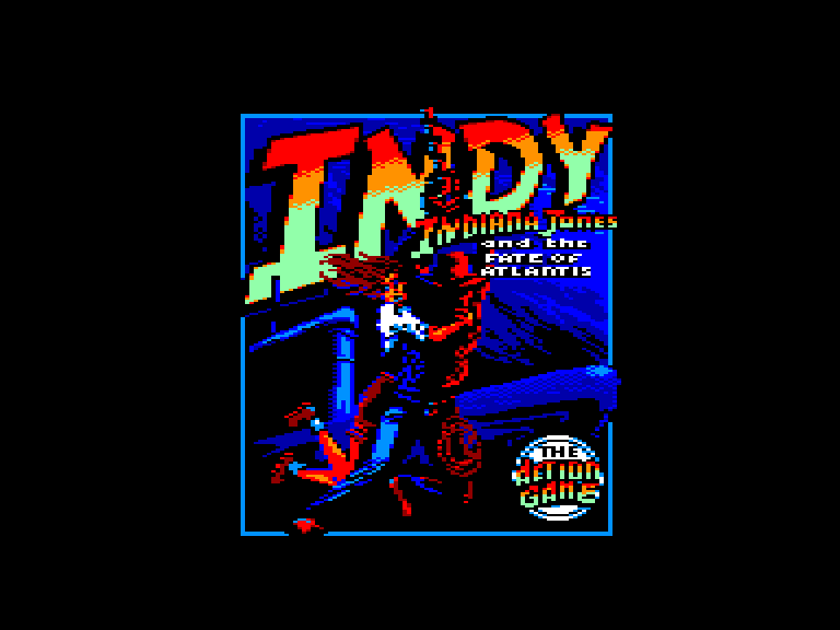 screenshot of the Amstrad CPC game Indiana Jones And The Fate Of Atlantis by GameBase CPC