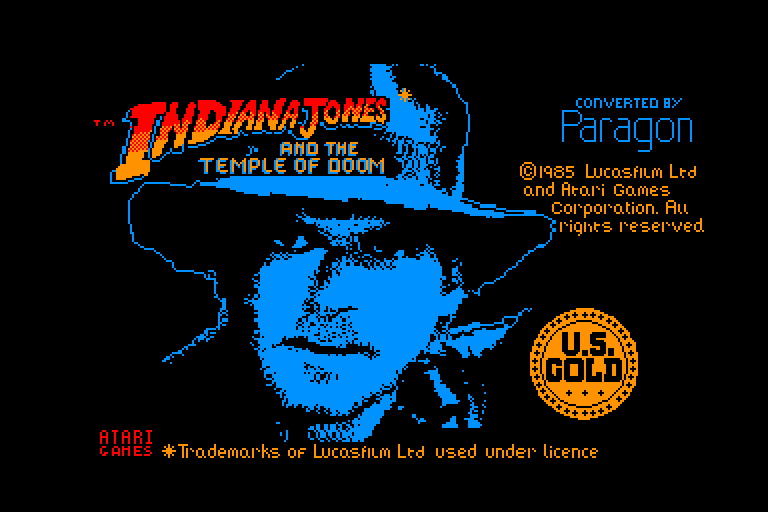 screenshot of the Amstrad CPC game Indiana jones and the temple of doom by GameBase CPC