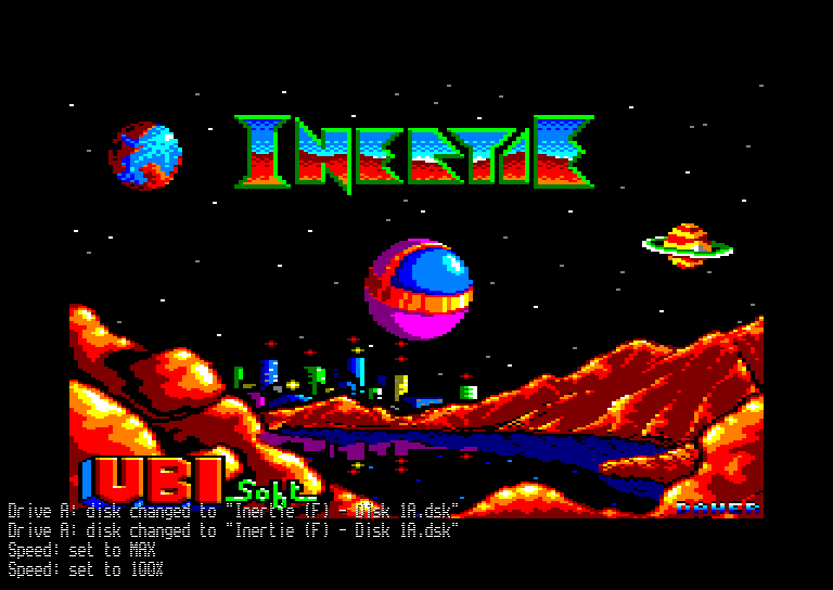 screenshot of the Amstrad CPC game Inertie by GameBase CPC