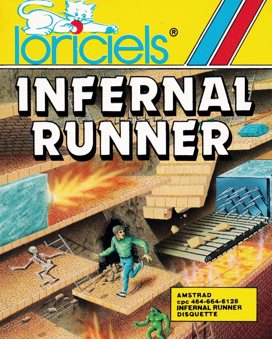 cover of the Amstrad CPC game Infernal Runner  by GameBase CPC