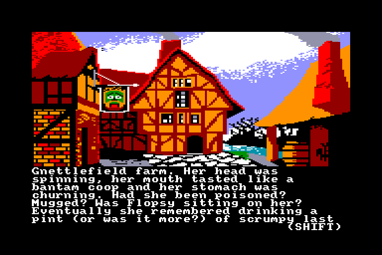 screenshot of the Amstrad CPC game Ingrid's back by GameBase CPC
