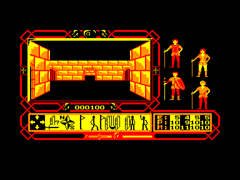screenshot of the Amstrad CPC game Inquisitor by GameBase CPC