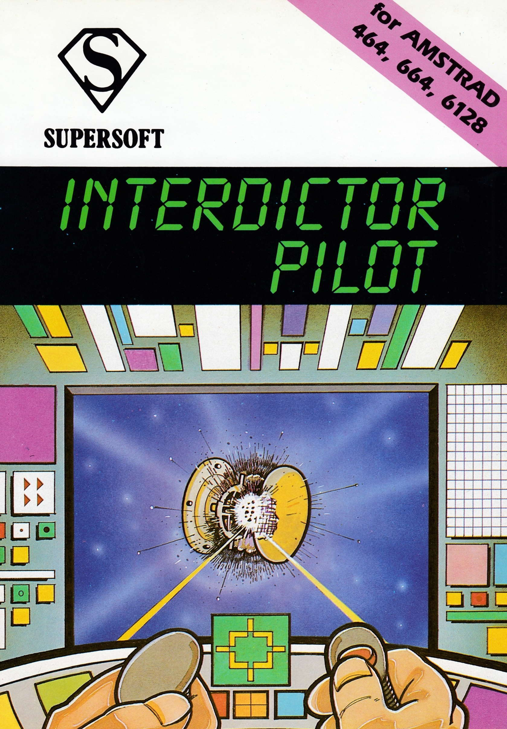 screenshot of the Amstrad CPC game Interdictor pilot by GameBase CPC