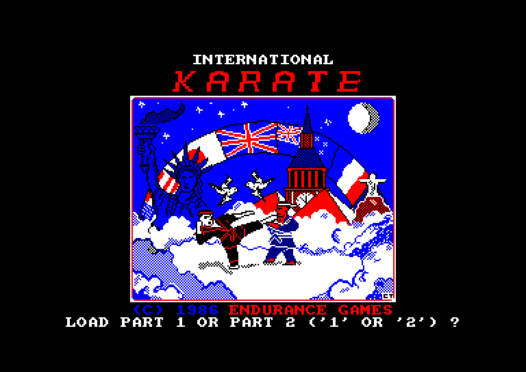 screenshot of the Amstrad CPC game International karate by GameBase CPC