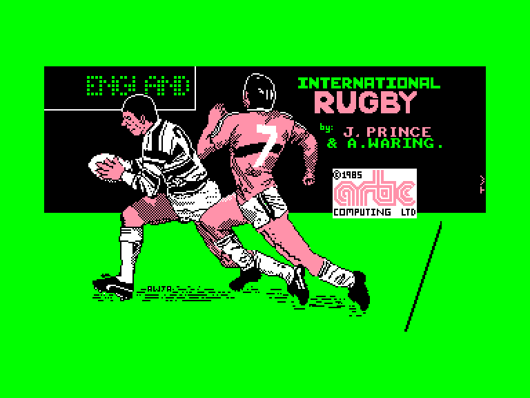 screenshot of the Amstrad CPC game International rugby by GameBase CPC
