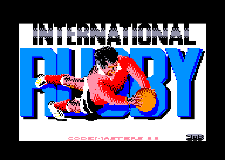 screenshot of the Amstrad CPC game International Rugby Simulator by GameBase CPC