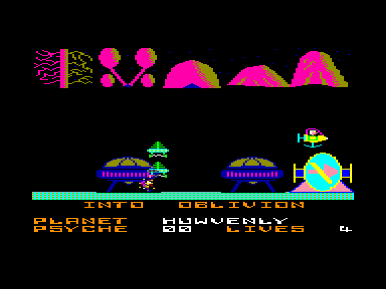 screenshot of the Amstrad CPC game Into oblivion by GameBase CPC