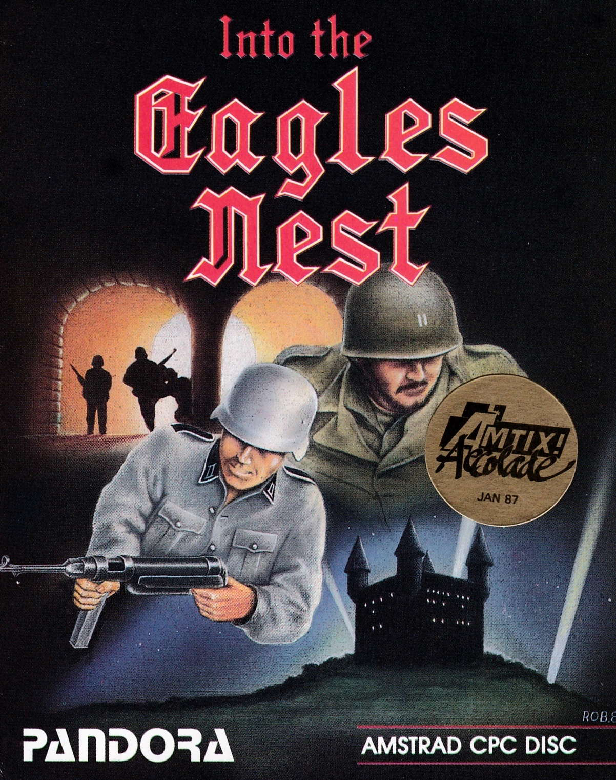 screenshot of the Amstrad CPC game Into the Eagle's Nest by GameBase CPC