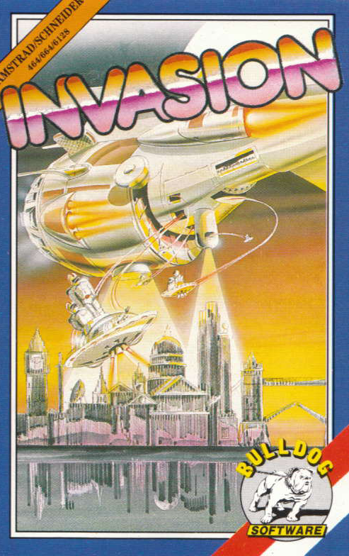 screenshot of the Amstrad CPC game Invasion by GameBase CPC