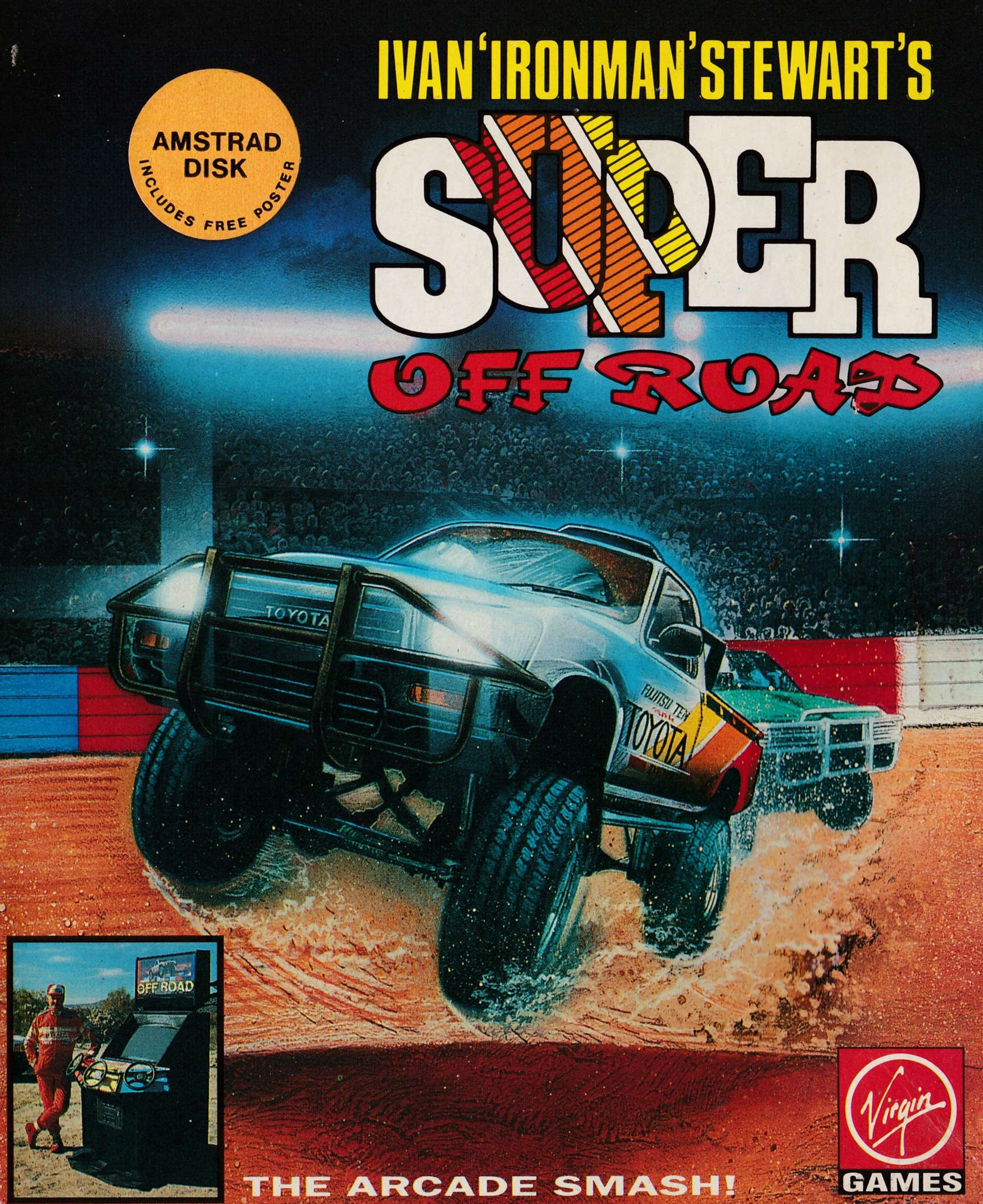 screenshot of the Amstrad CPC game Ivan 'Ironman' Stewart's Super Off Road by GameBase CPC