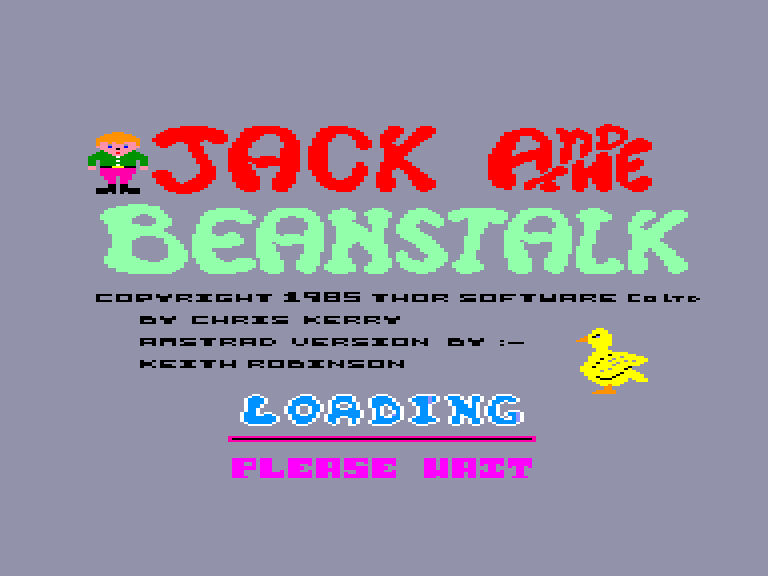 screenshot of the Amstrad CPC game Jack and the Beanstalk by GameBase CPC