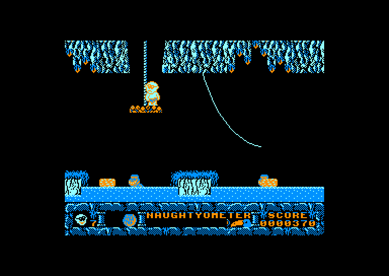 screenshot of the Amstrad CPC game Jack the Nipper II In Coconut Capers by GameBase CPC