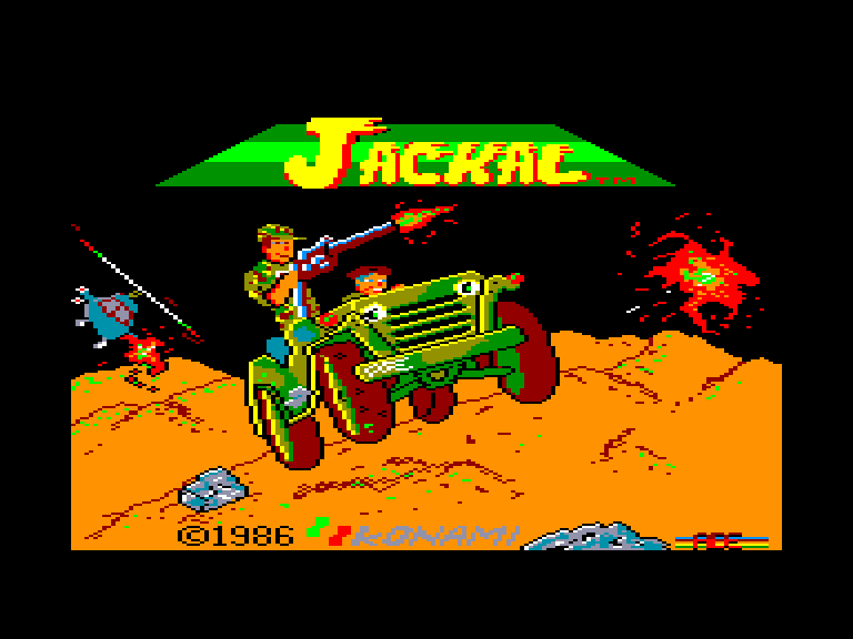 screenshot of the Amstrad CPC game Jackal by GameBase CPC