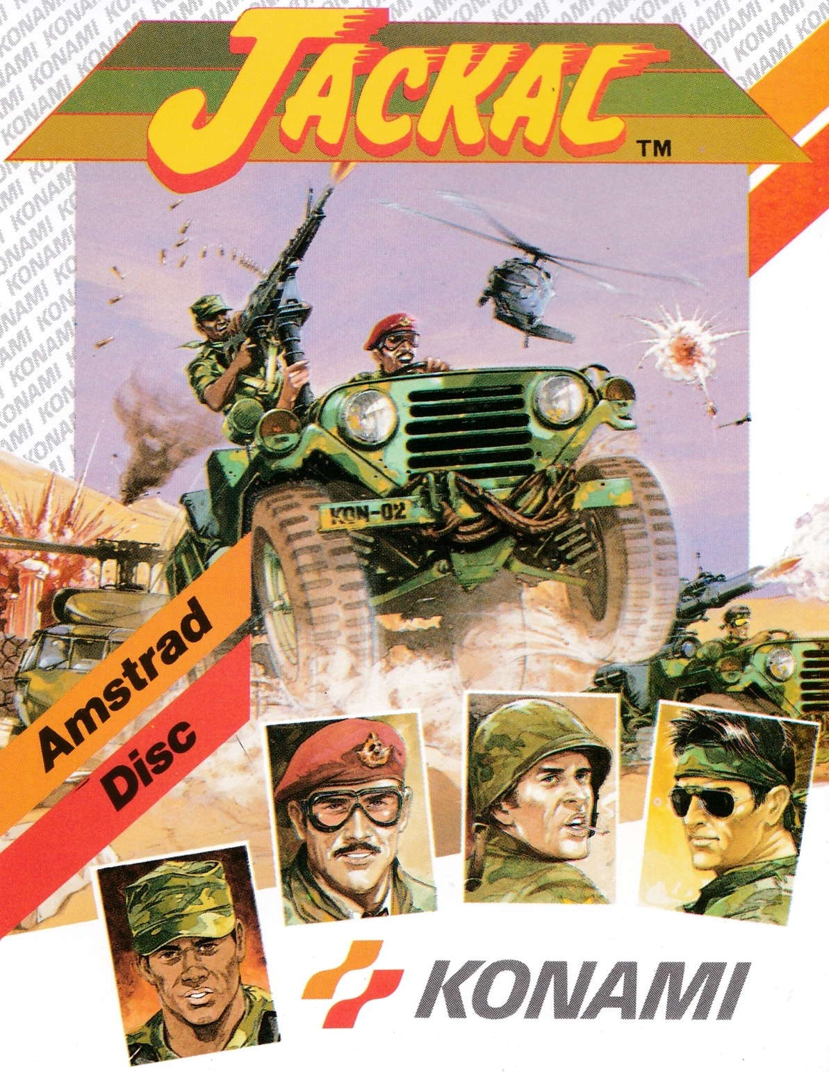 cover of the Amstrad CPC game Jackal  by GameBase CPC