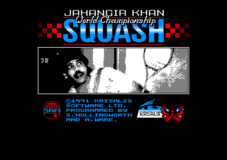 screenshot of the Amstrad CPC game Jahangir khan world championship squash by GameBase CPC