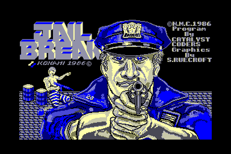 screenshot of the Amstrad CPC game Jail Break by GameBase CPC