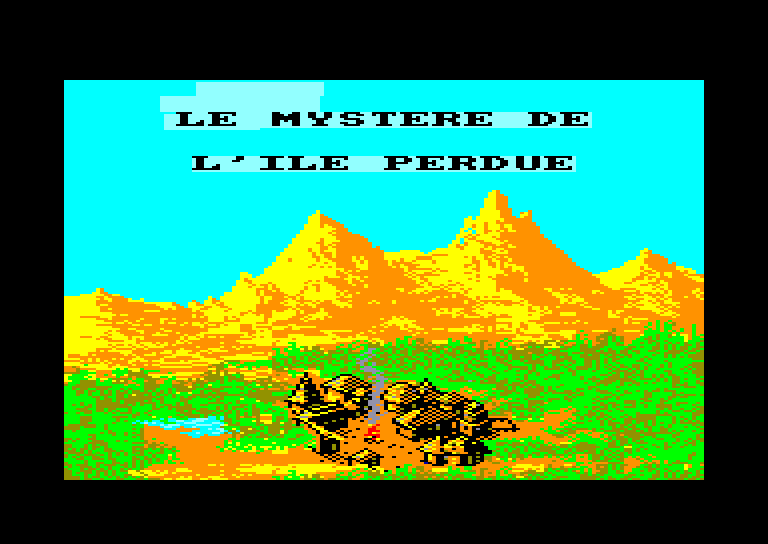 screenshot of the Amstrad CPC game James Debug - Le Mystere de l'Ile Perdue by GameBase CPC