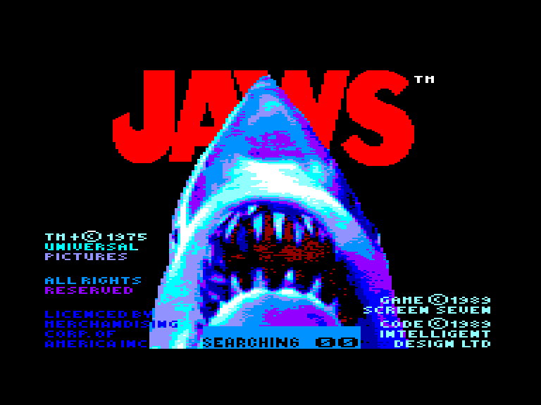 screenshot of the Amstrad CPC game Jaws by GameBase CPC