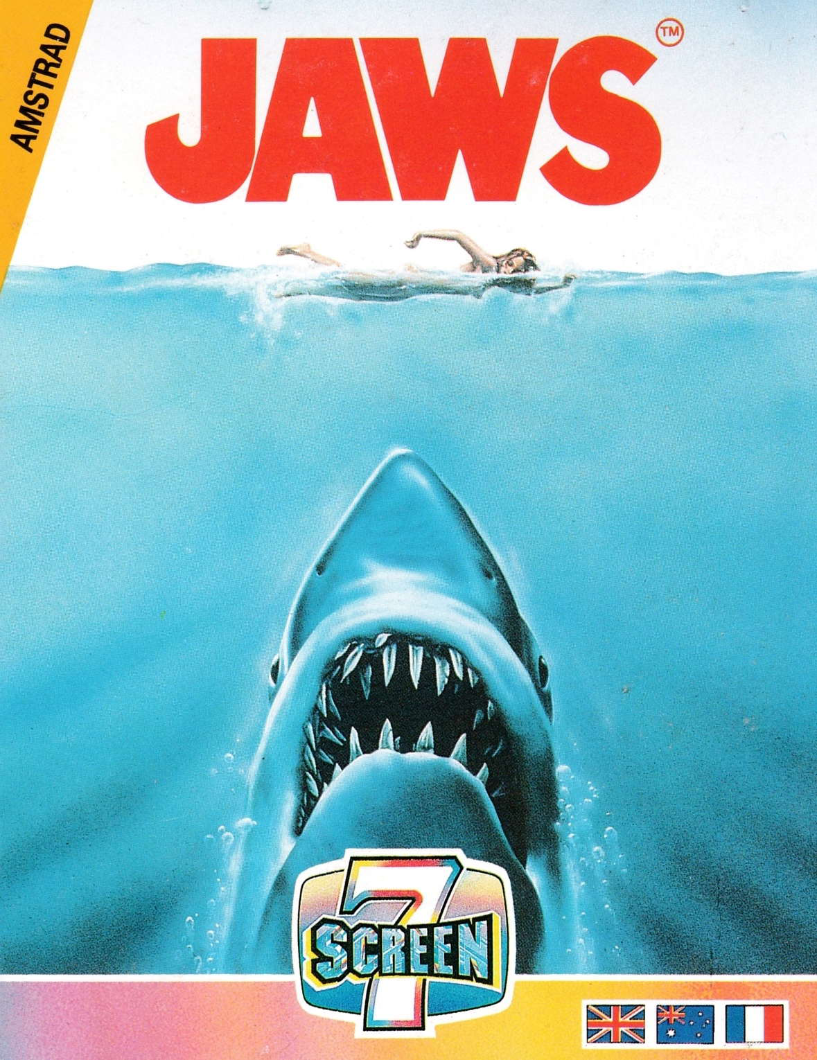 cover of the Amstrad CPC game Jaws  by GameBase CPC