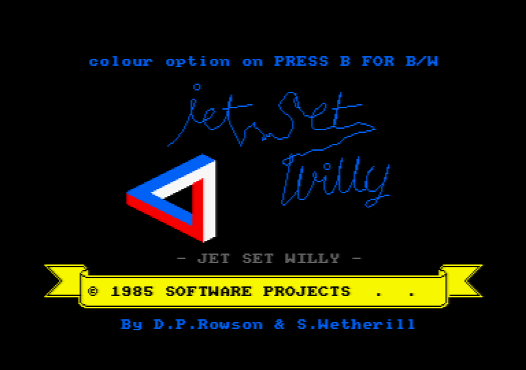 screenshot of the Amstrad CPC game Jet set willy by GameBase CPC