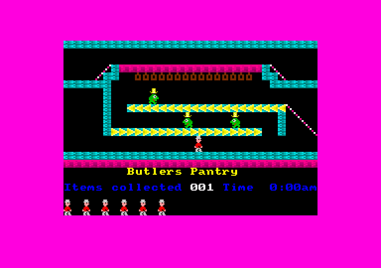 screenshot of the Amstrad CPC game Jet set willy 2 + by GameBase CPC