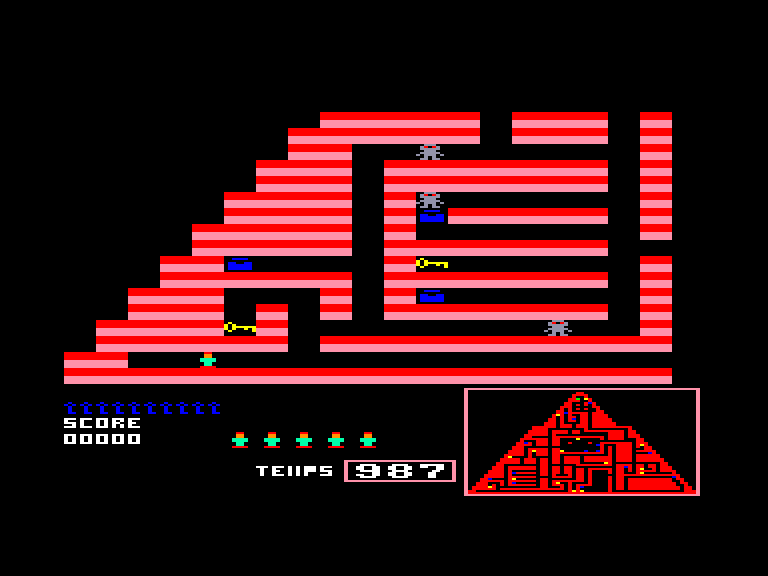 screenshot of the Amstrad CPC game Joe contre les pharaons by GameBase CPC