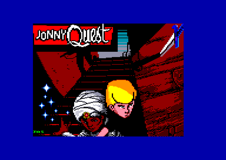 screenshot of the Amstrad CPC game Jonny quest by GameBase CPC
