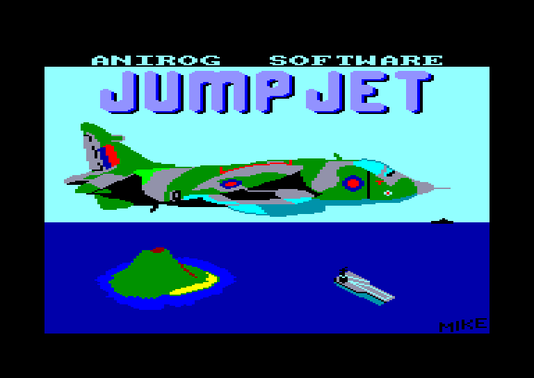 screenshot of the Amstrad CPC game Jump Jet by GameBase CPC