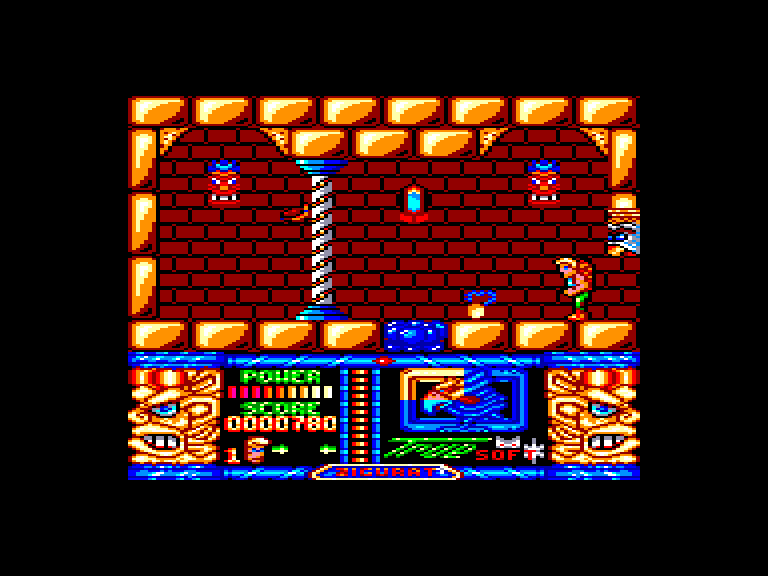 screenshot of the Amstrad CPC game Jungle Warrior by GameBase CPC