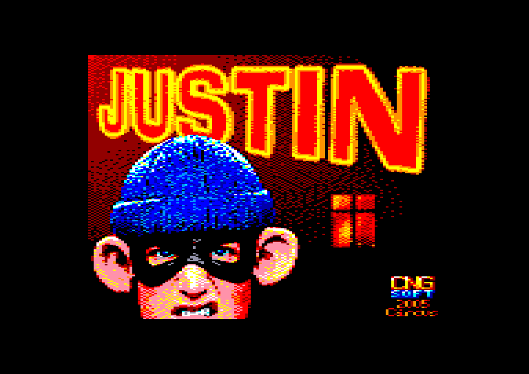 screenshot of the Amstrad CPC game Justin by GameBase CPC