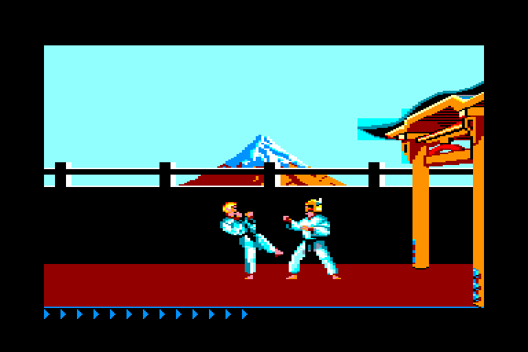 screenshot of the Amstrad CPC game Karateka by GameBase CPC
