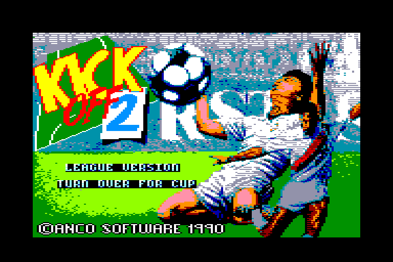 screenshot of the Amstrad CPC game Kick off 2 by GameBase CPC