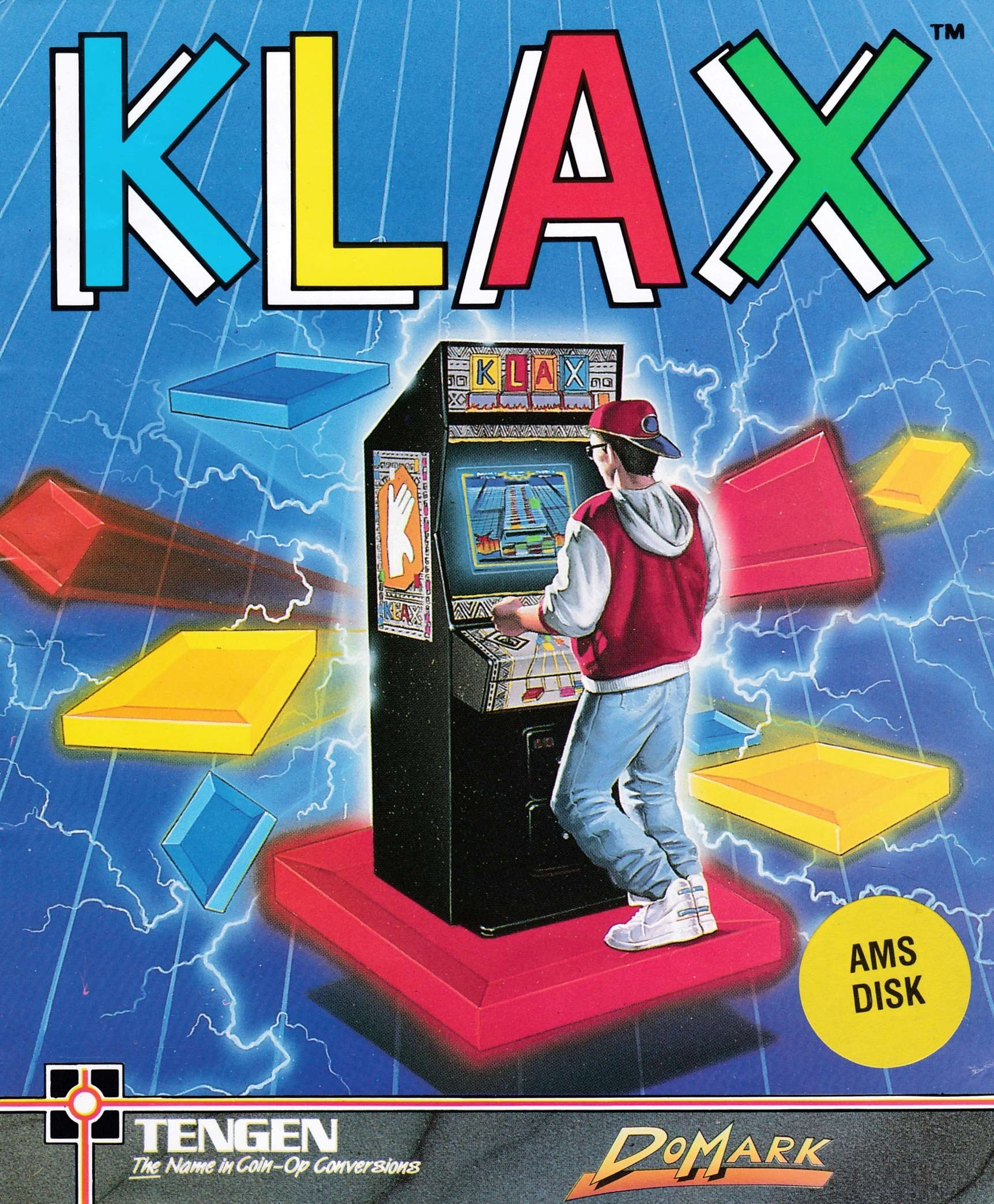 screenshot of the Amstrad CPC game Klax by GameBase CPC