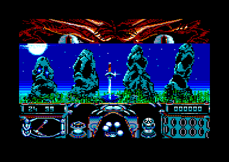 screenshot of the Amstrad CPC game Knight Force by GameBase CPC