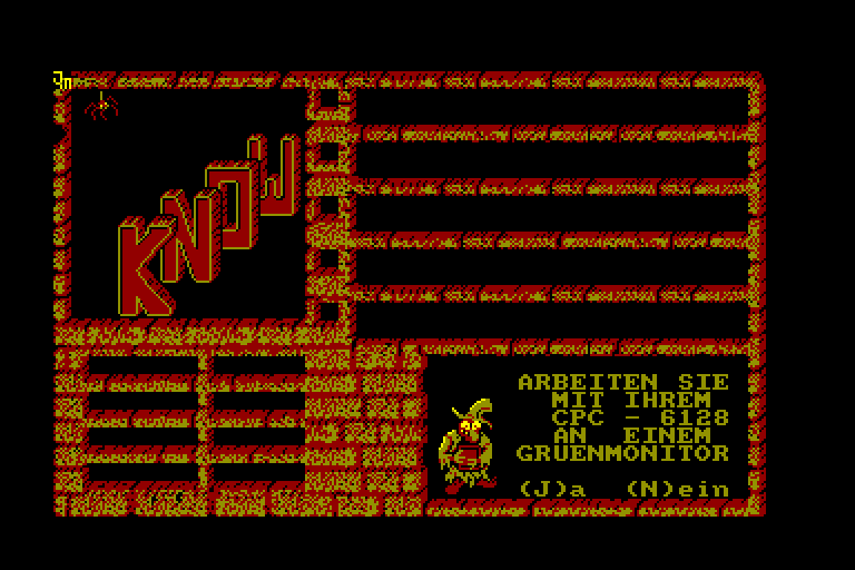 screenshot of the Amstrad CPC game Know by GameBase CPC