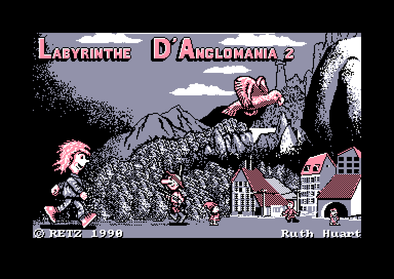 screenshot of the Amstrad CPC game Labyrinthe d'Anglomania 2 (le) by GameBase CPC