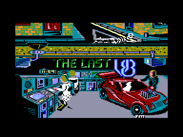 screenshot of the Amstrad CPC game Last V8 (the) by GameBase CPC