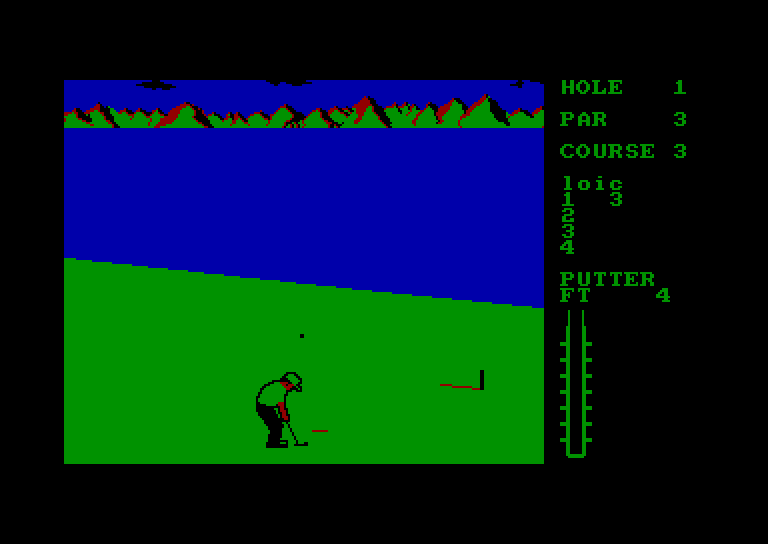 screenshot of the Amstrad CPC game Leader Board by GameBase CPC