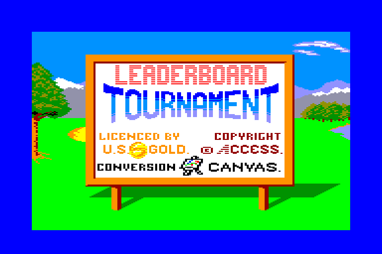 screenshot of the Amstrad CPC game Leader Board Tournament by GameBase CPC