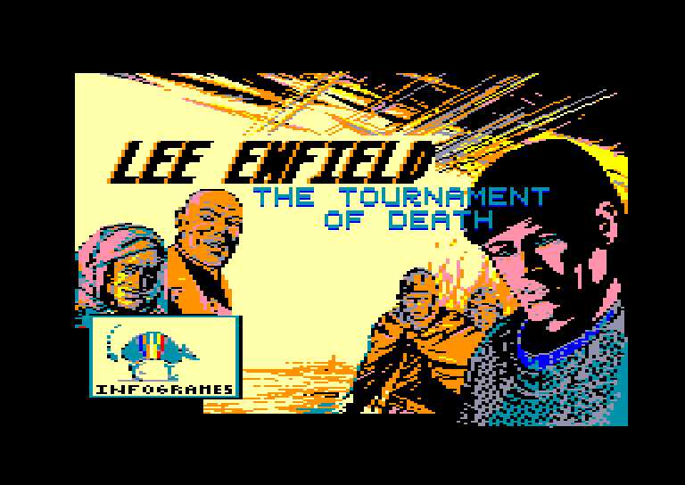 screenshot of the Amstrad CPC game Lee Enfield in the Tournament of Death by GameBase CPC