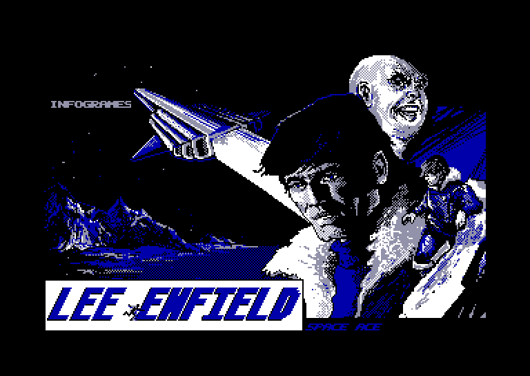 screenshot of the Amstrad CPC game Lee Enfield is Space Ace by GameBase CPC
